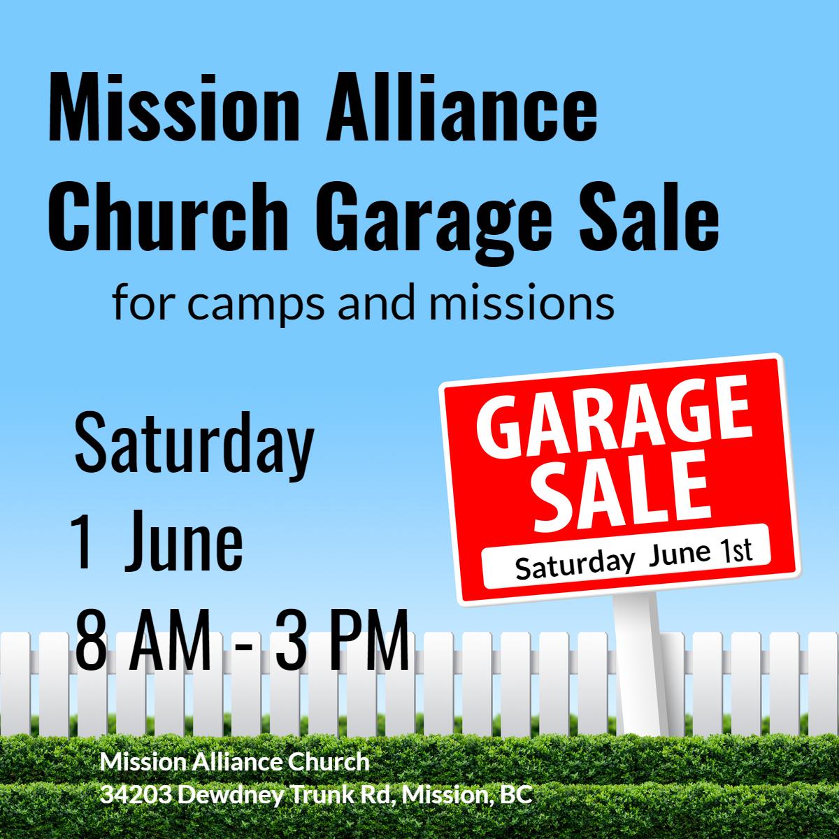 Garage Sale – Mission Alliance Church